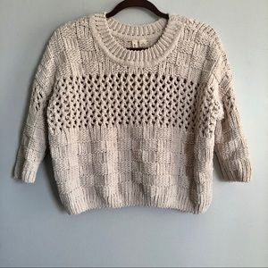 Anthropologie Moth Chunky Knit Sweater Size XS